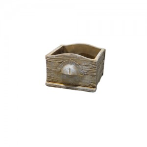 "7"" Drawer-shaped Concrete Pot.  6 pieces"