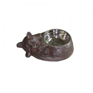 "12"" Cast Iron Cat Bowl.  4 pieces"