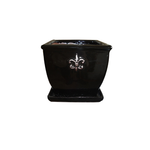 lotus international 7 milan fleur de lis lid planter s 2. Black Bedroom Furniture Sets. Home Design Ideas