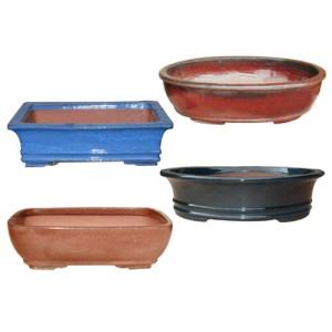 Glazed Bonsai Pot Assortment