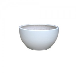 "13"" White Low Bowl Pltr S/3"
