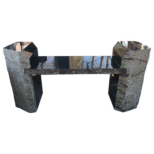 Lotus International 187 Basalt Bench With Armrest