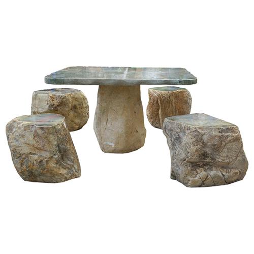 Patio Table Set – Dragon Jade Boulder - Lotus International » Patio Table Set – Dragon Jade Boulder