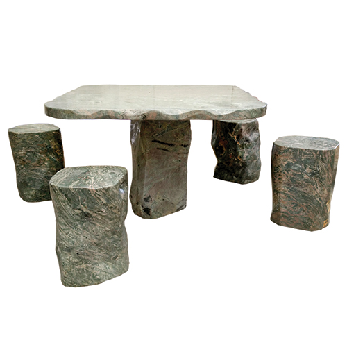 Dragon Jade Patio Table With 4 Stools Lotus International
